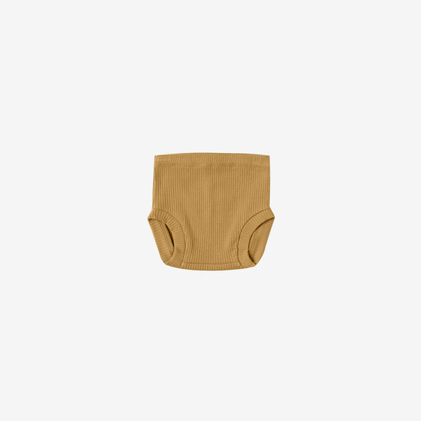 Organic Ribbed Bloomer - Ochre