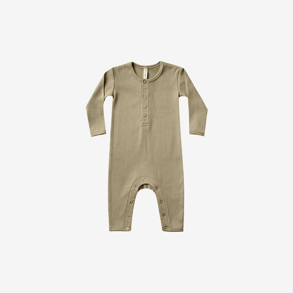 Organic Cotton Rib Jumpsuit - Olive