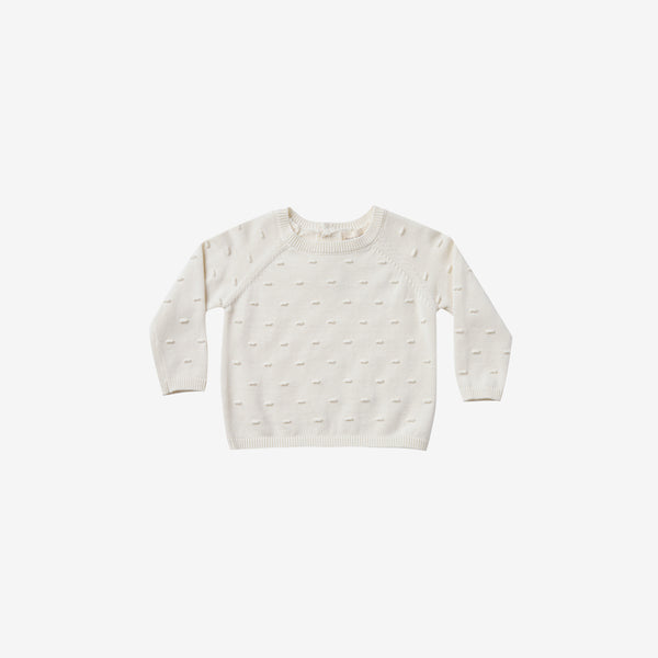 Organic Knit Bailey Sweater - Ivory
