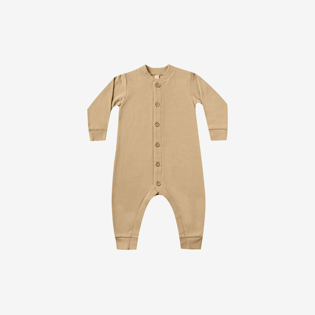 Organic Cotton Fleece Jumpsuit - Honey