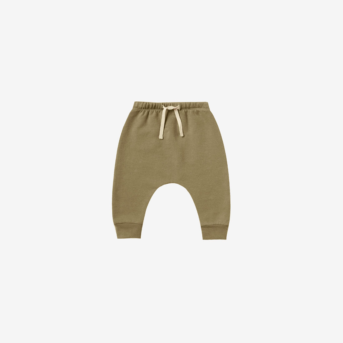 Organic Cotton Fleece Sweatpant - Olive
