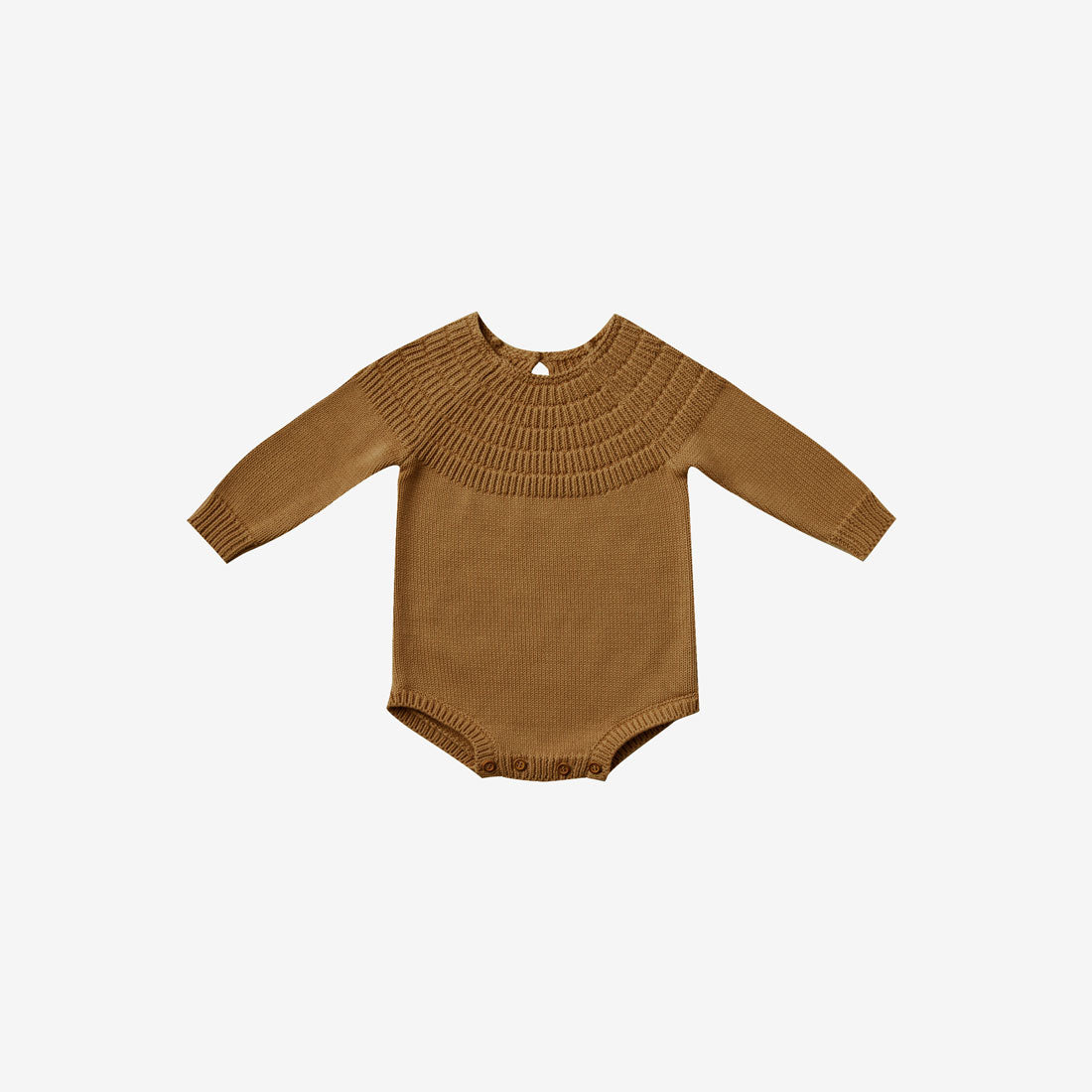 Organic Sweater Knit Dalia Romper - Walnut