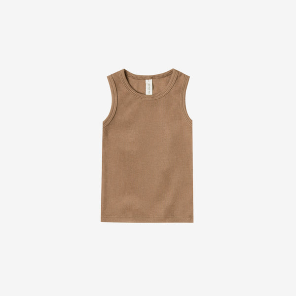 Organic Ribbed Baby Tank - Copper