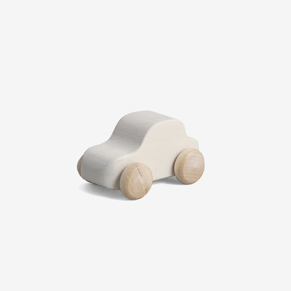 Little Wooden Car - White SUV