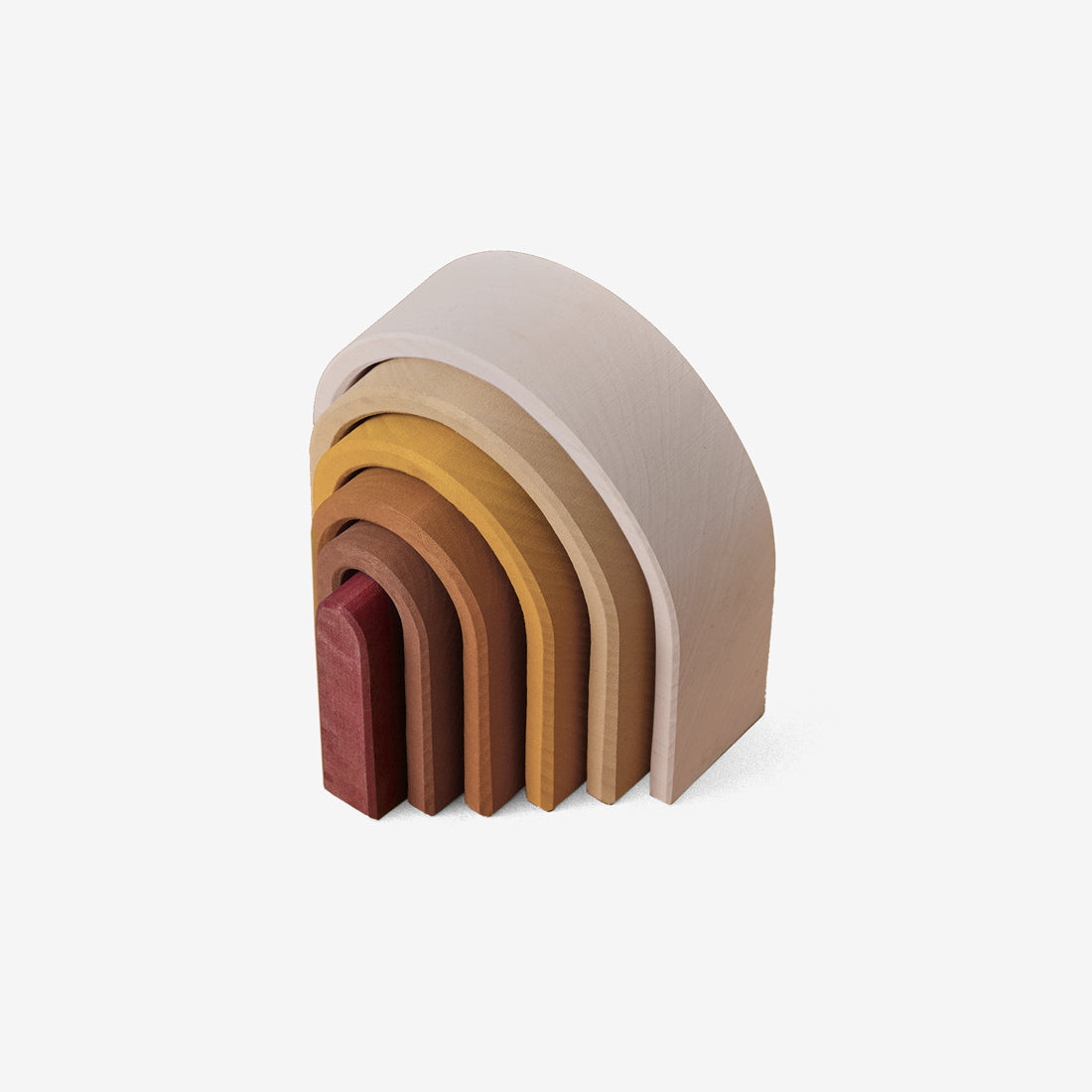 Wooden Arch Stacker - Oval Rainbow