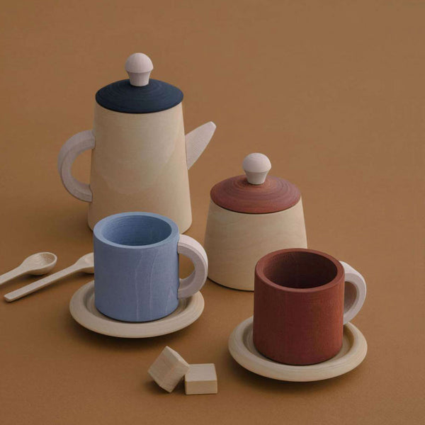 Wooden Tea Set - Terra & Blue