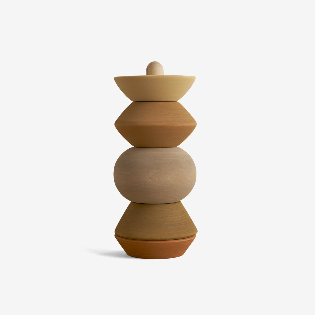 Hardwood Stacking Tower - Ball Sculpture