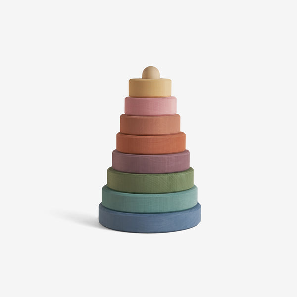 Hardwood Stacking Tower - Pastel Earth Rainbow