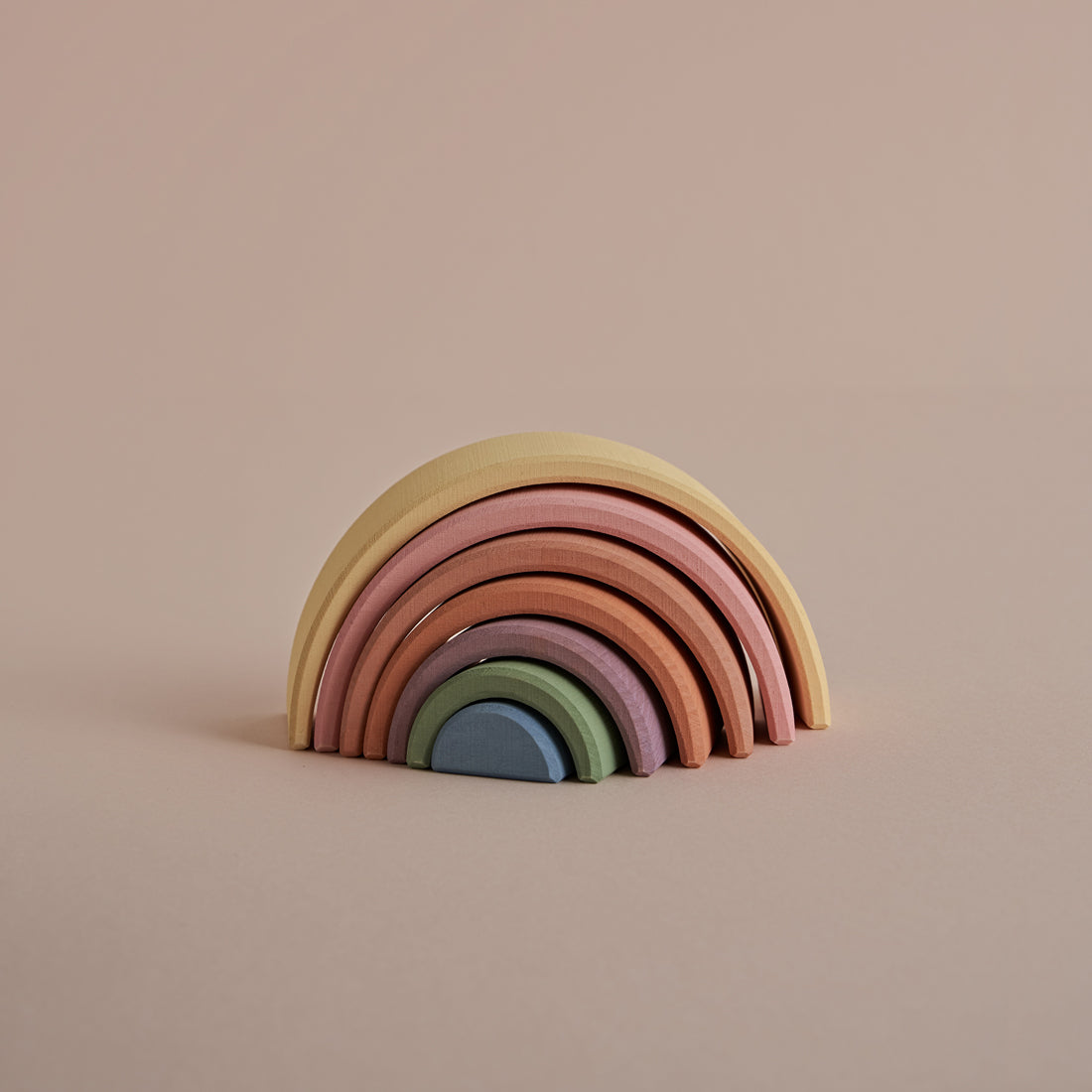 Wooden Arch Stacker - Earth Pastel Rainbow