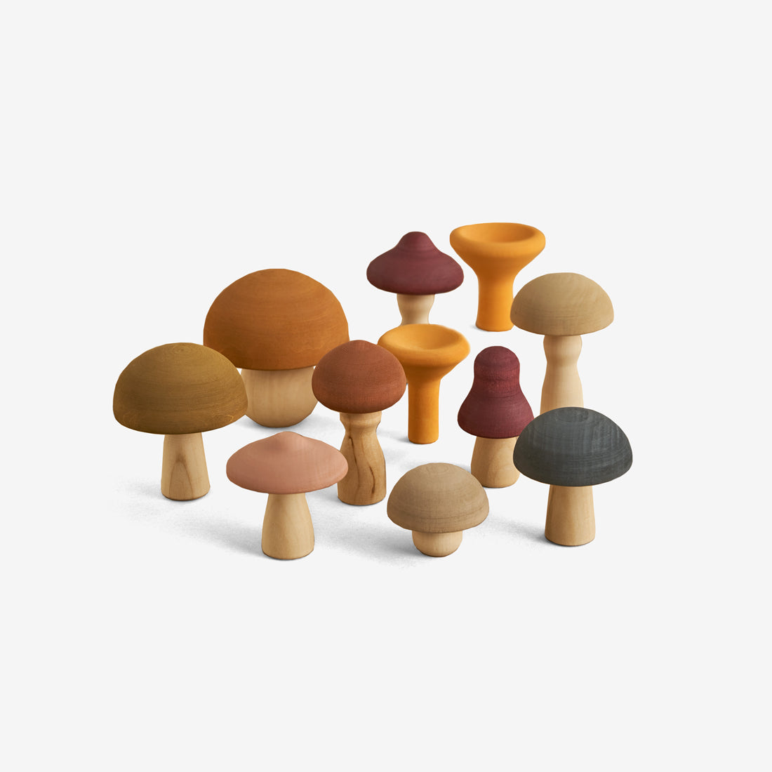 Wooden Foods Play Set - Mushrooms