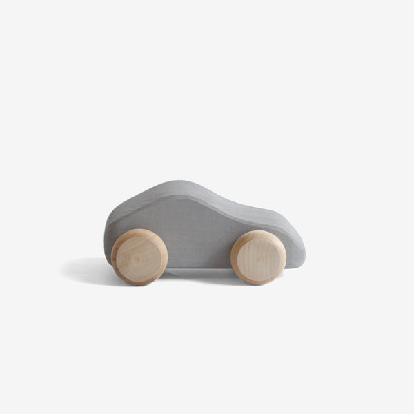 Little Wooden Car - Silver Grey Coupe