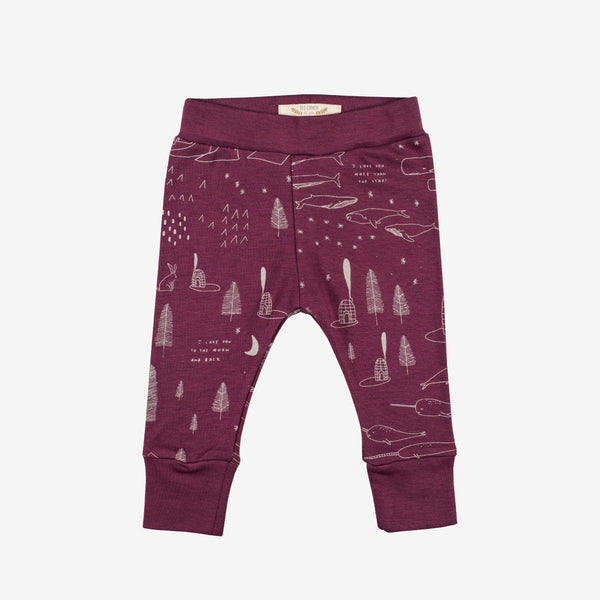 Arctic Story Leggings - Bordeaux