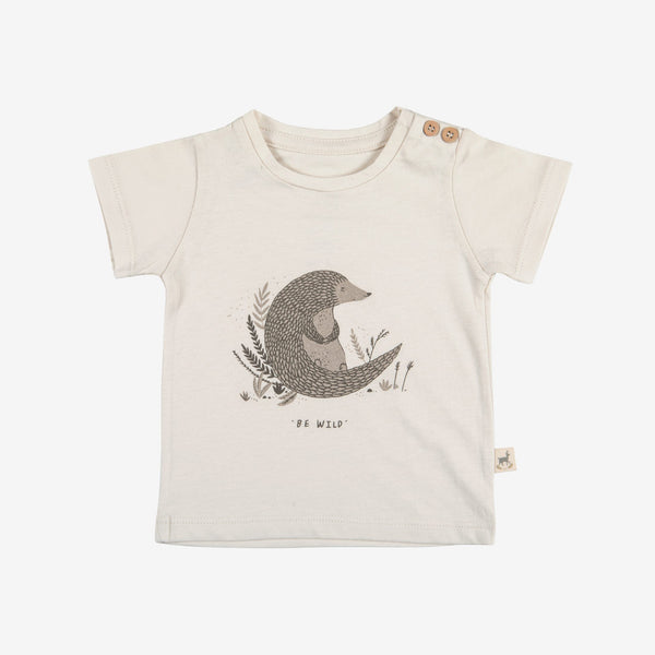 Be Wild Round-neck T-shirt - sand