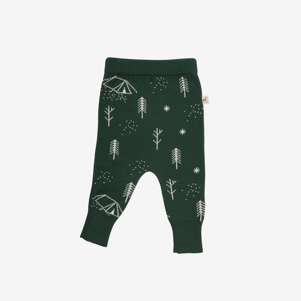 Camp Night Pima Knit Pant - Forest
