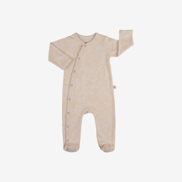 Canopy Organic Pima Footed Jumpsuit - Pink Tint