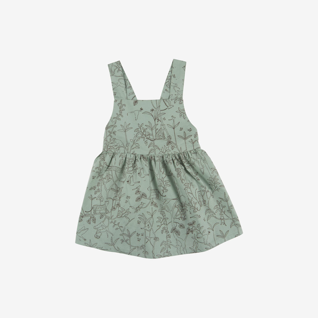 Canopy Organic Pima Woven Jumper Baby Dress - Jadeite