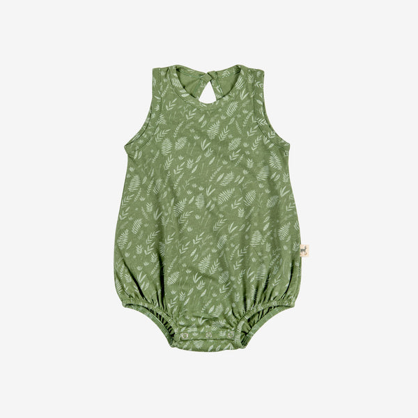 Foliage Bubble Onesie - vine