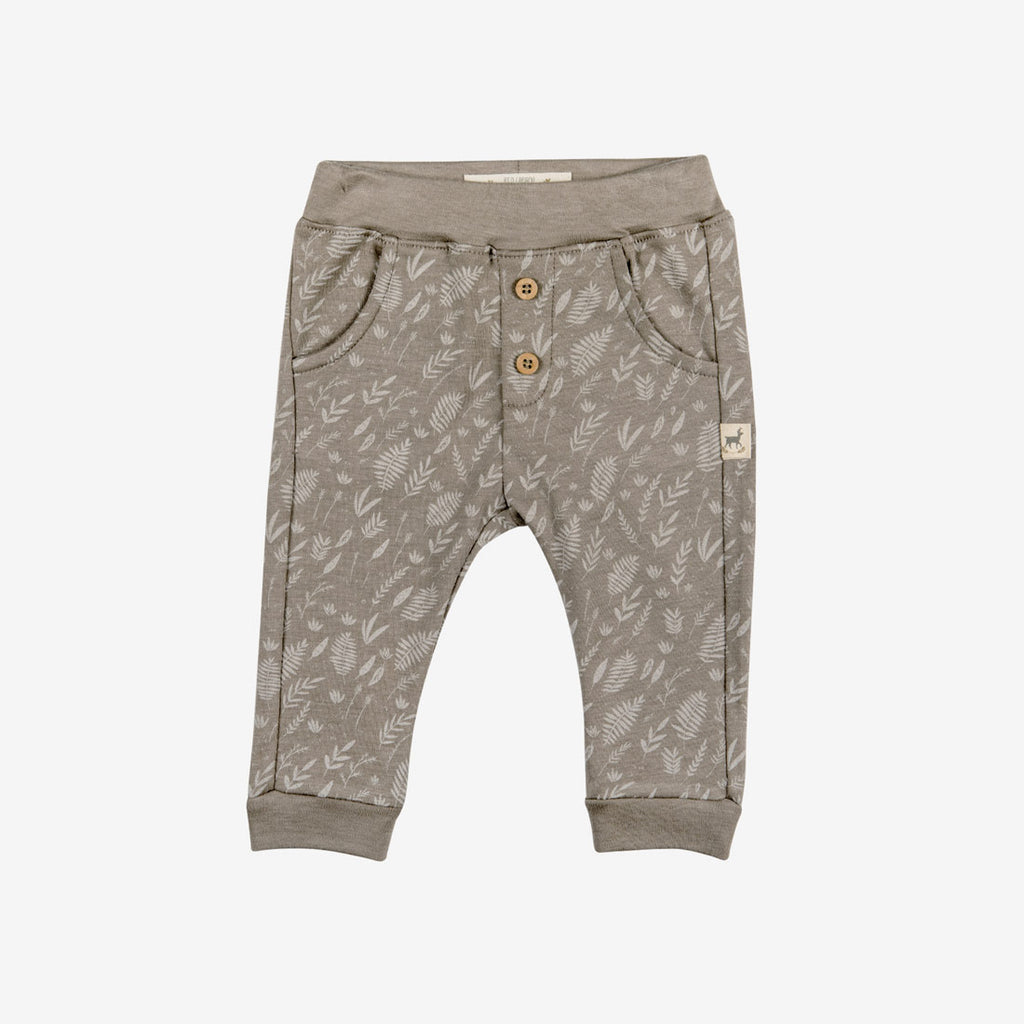 Foliage Button Pants - Taupe