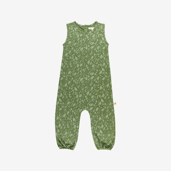 Foliage Jersey Overalls - vine