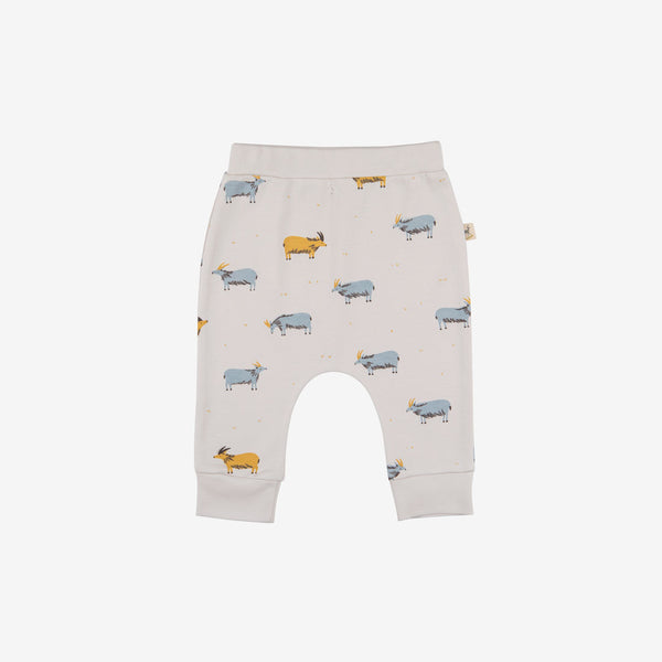 Golden Blue Goat Baggy Pima Baby Pants
