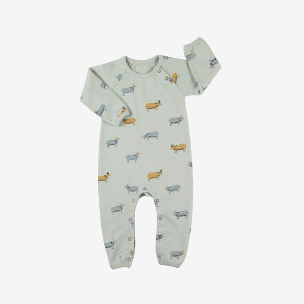 Golden Blue Goat French Terry Jumpsuit