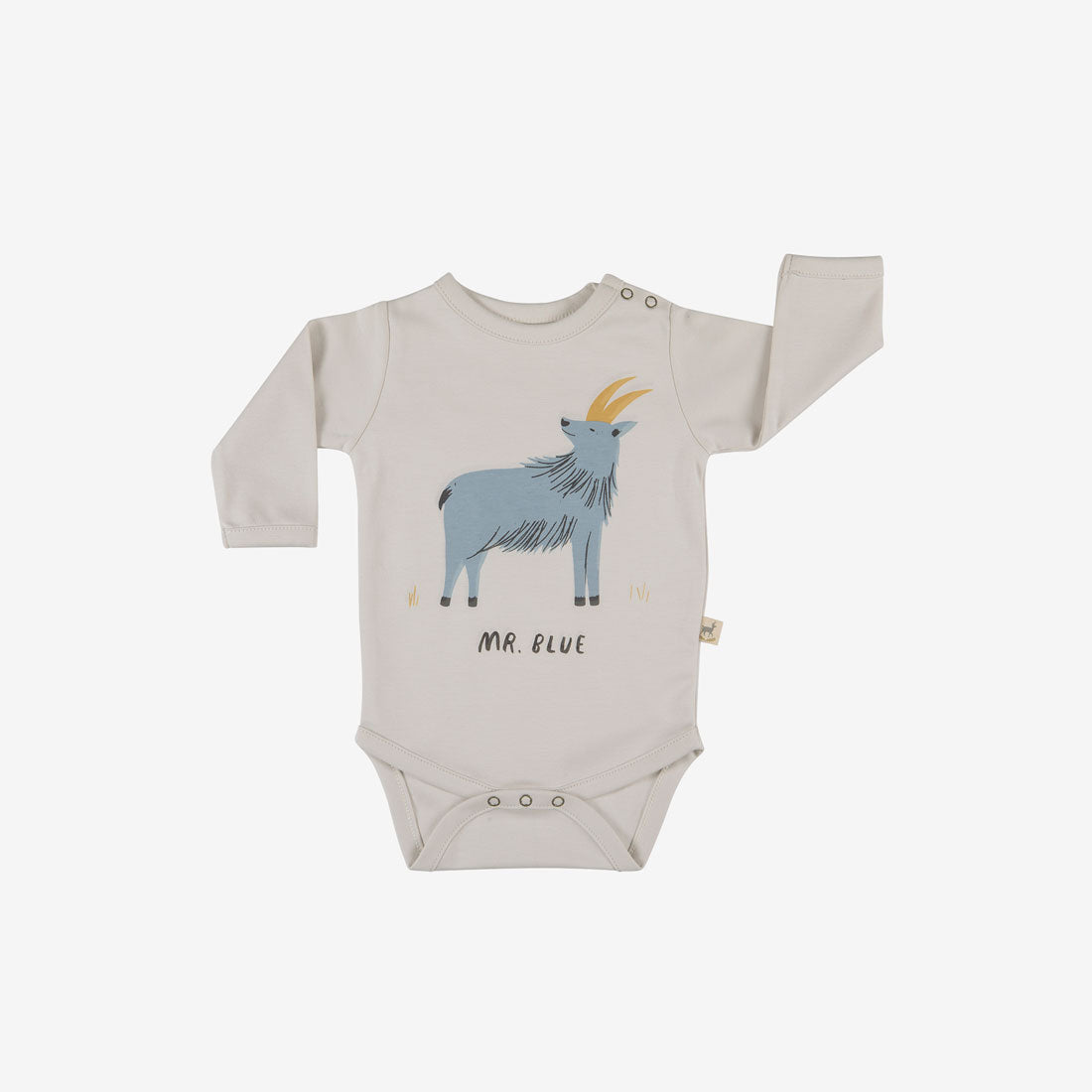 Mr. Blue Pima L/S Onesie