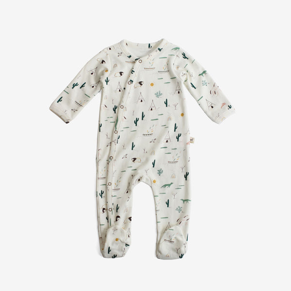 Native Desert Organic Pima Footed Jumpsuit