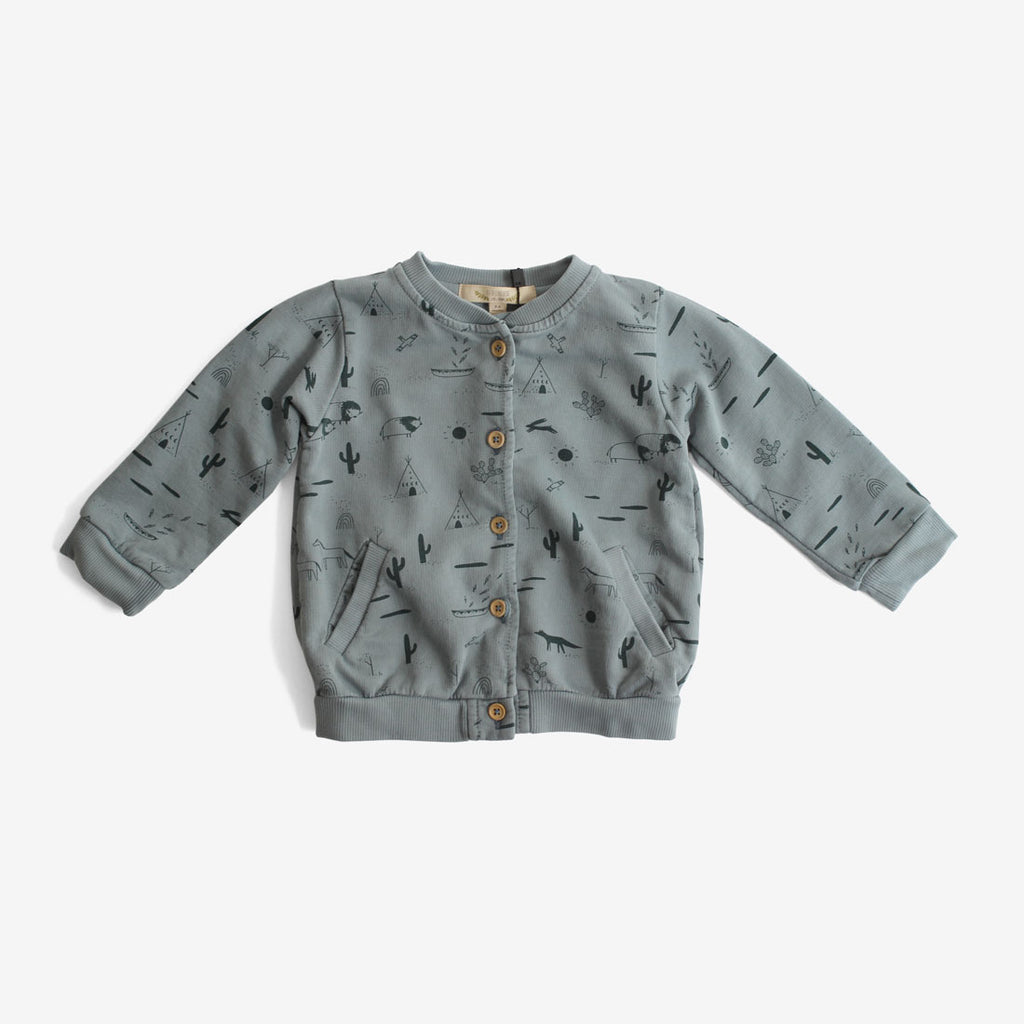 Native Desert Pima Terry Cardigan - Lead