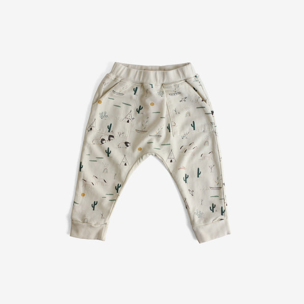 Native Desert Pima Terry Jogger - Ivory