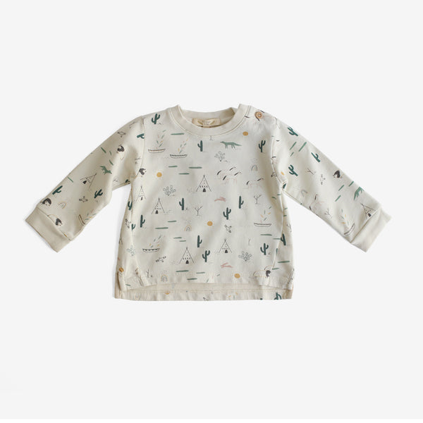 Native Desert Pima Terry Sweatshirt - Ivory