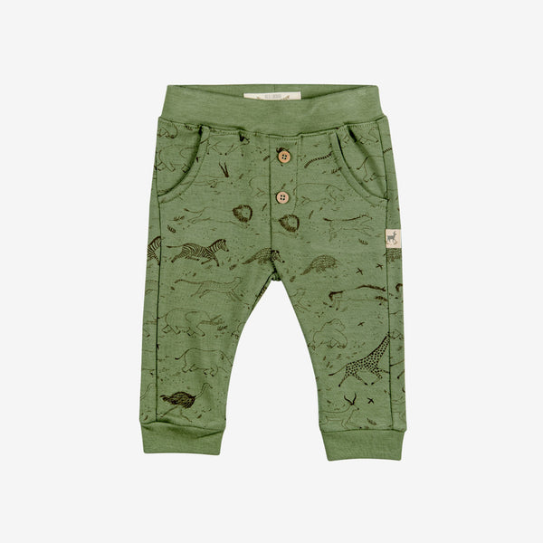 Safari Story Button Pants - vine