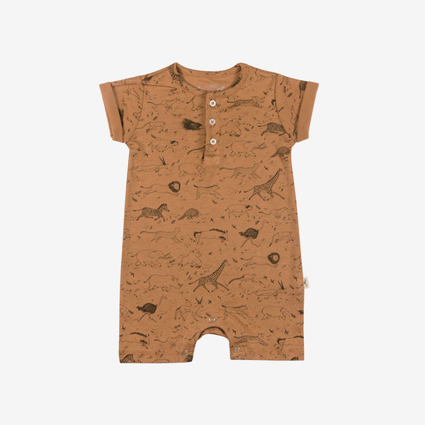 Safari Story Short-sleeve Jumpsuit - terracotta