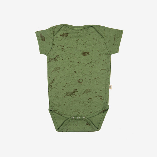 Safari Story Short-sleeve Onesie - vine