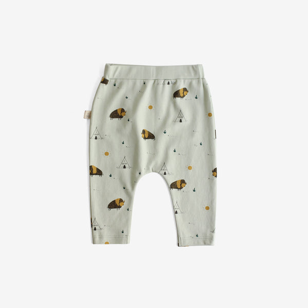 Shaggy Bison Pima Cotton Baby Pants