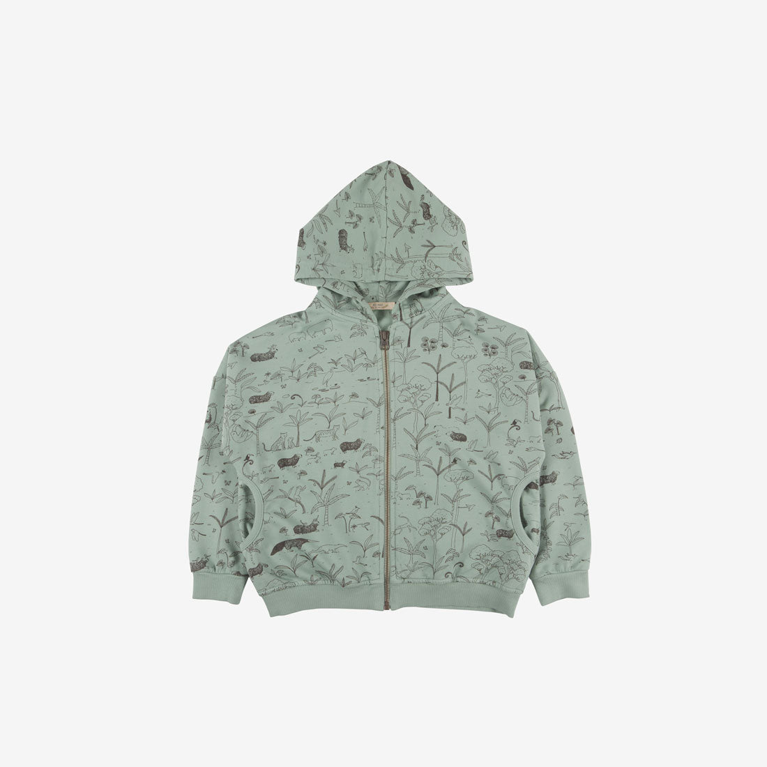 The Story Organic Pima French Terry Hoodie - Jadeite