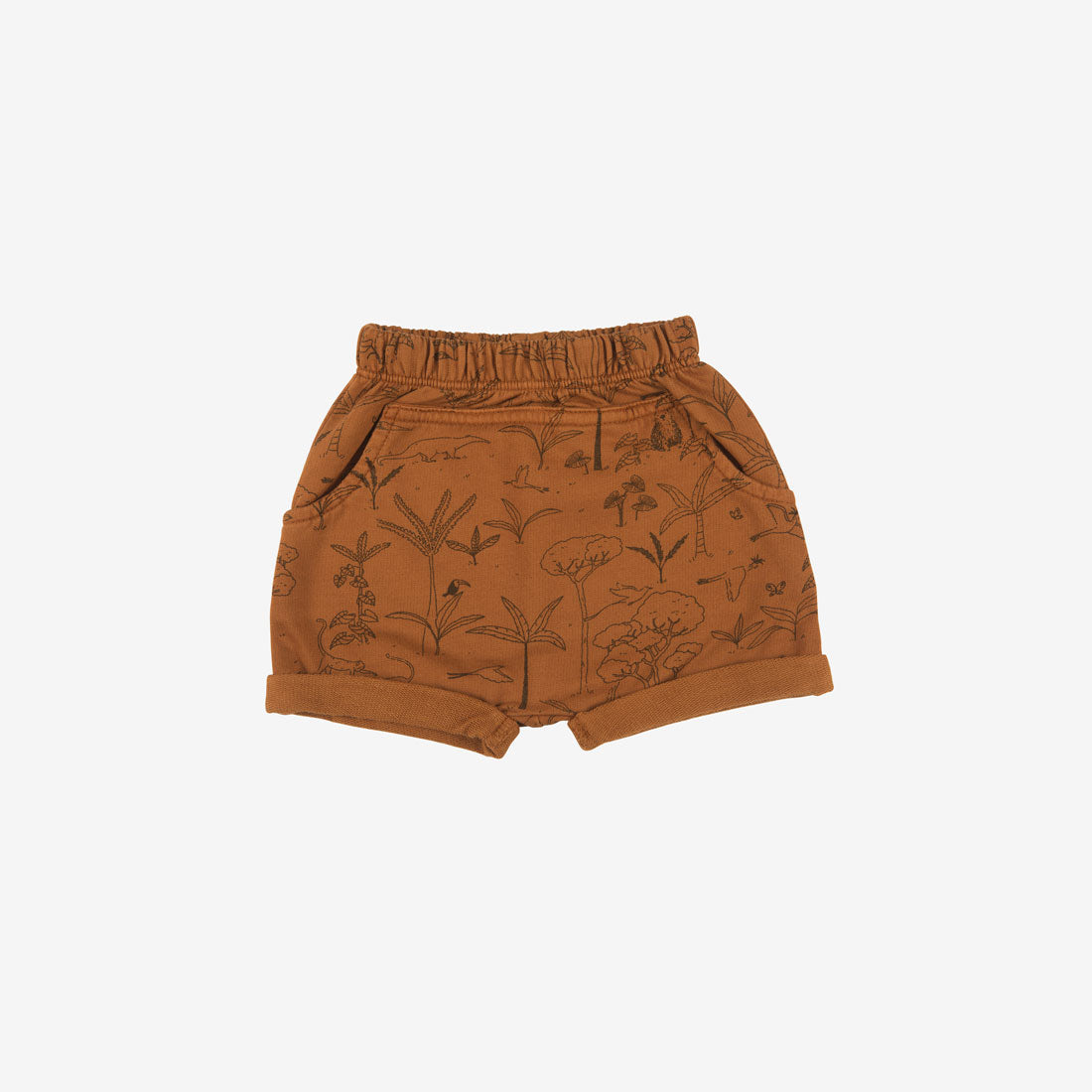 The Story Organic Pima French Terry Shorts - Ginger