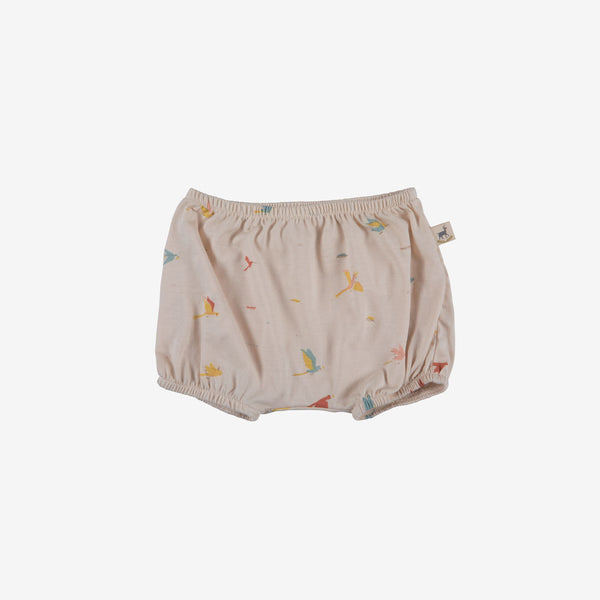 Tropical Birds Organic Pima Bloomer - Pink Tint