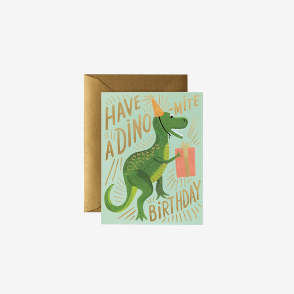 Birthday Card - Have a Dino-Mite Birthday