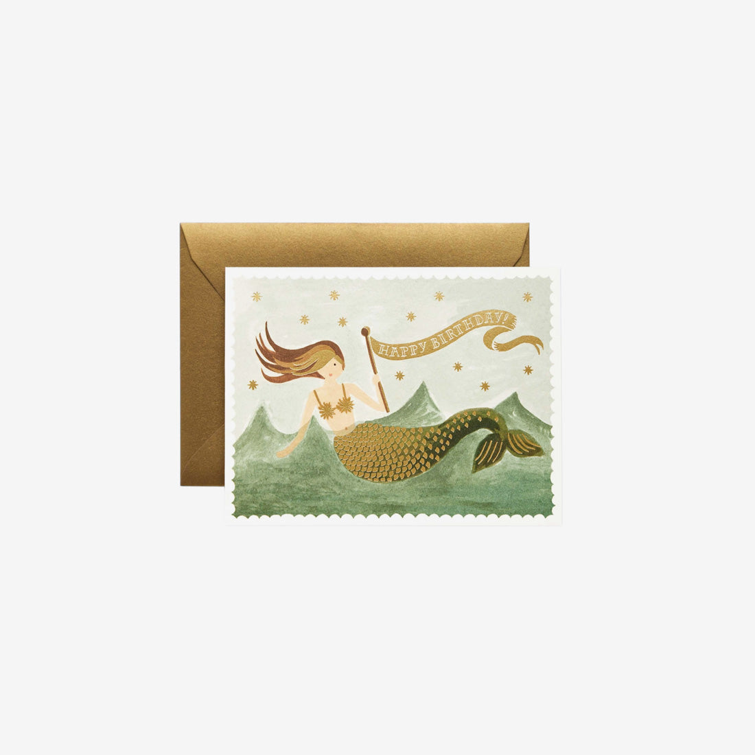 Birthday Card - Vintage Mermaid