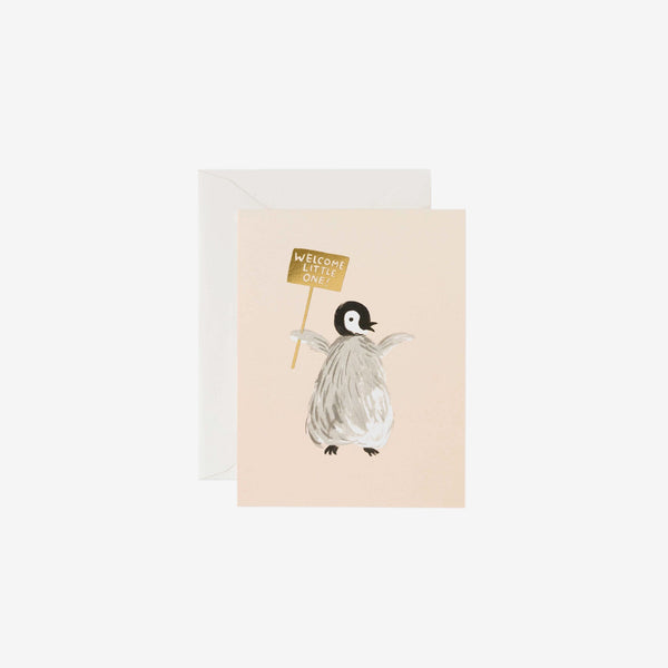New Baby Card - Welcome Penguin