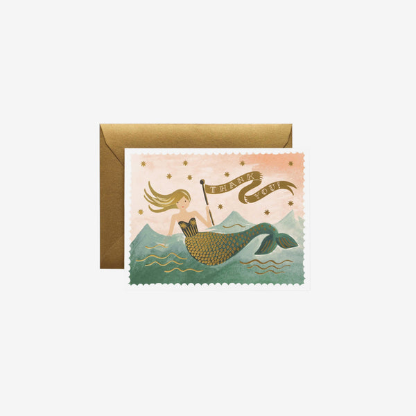 Thank you Card - Vintage Mermaid