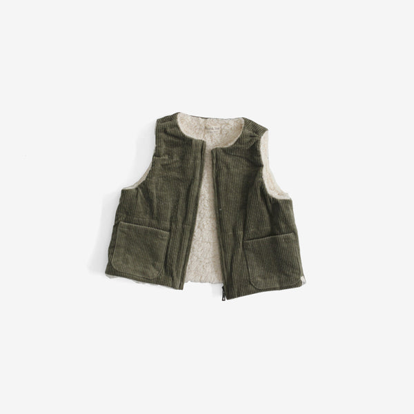 Corduroy Vest with Organic Sherpa Lining