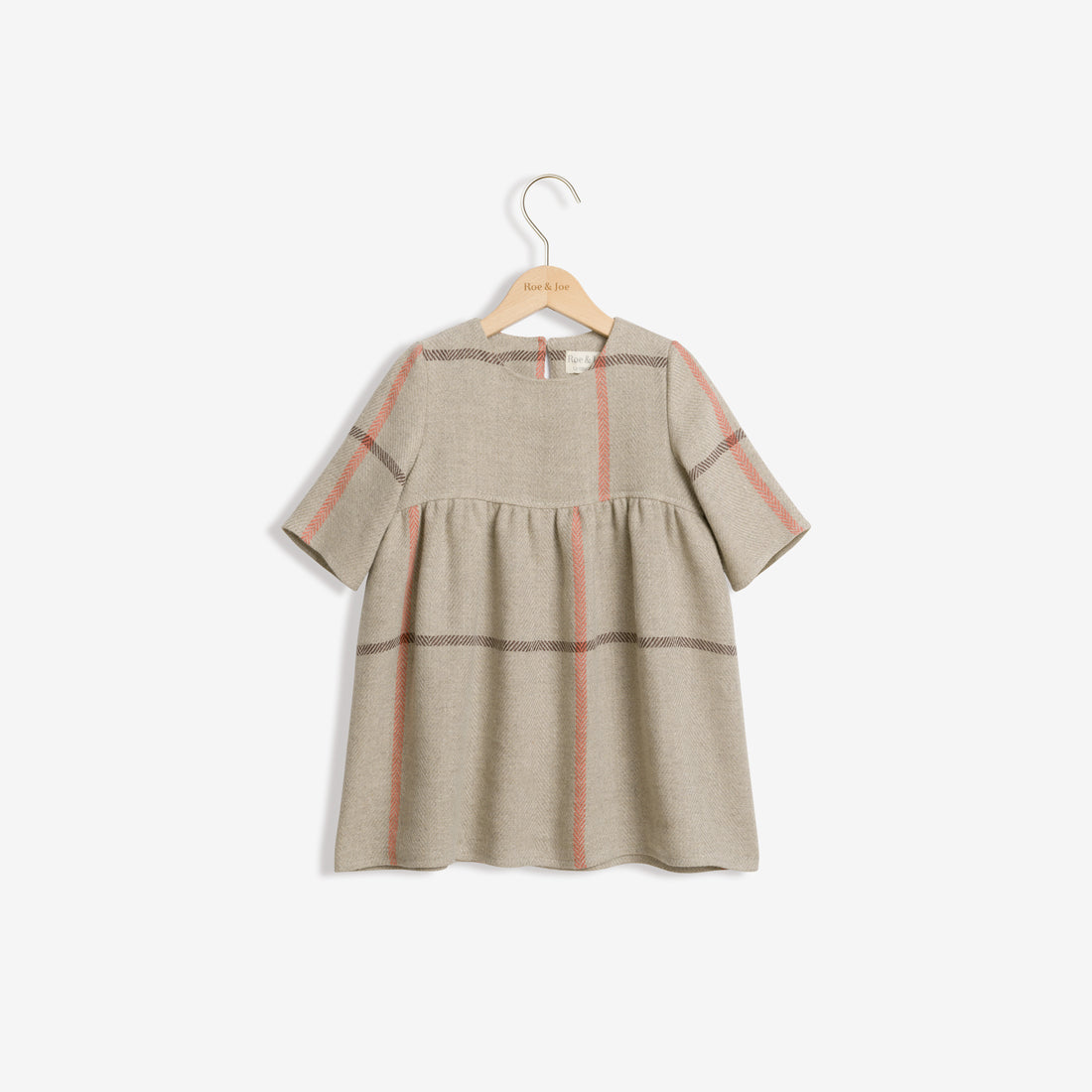 Linen Blend Woven Dress - Mix Checks