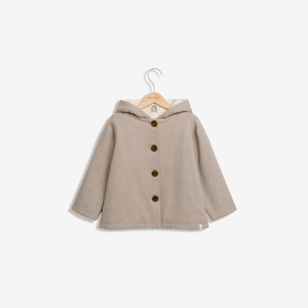 Organic Cotton Sherpa Hooded Jacket