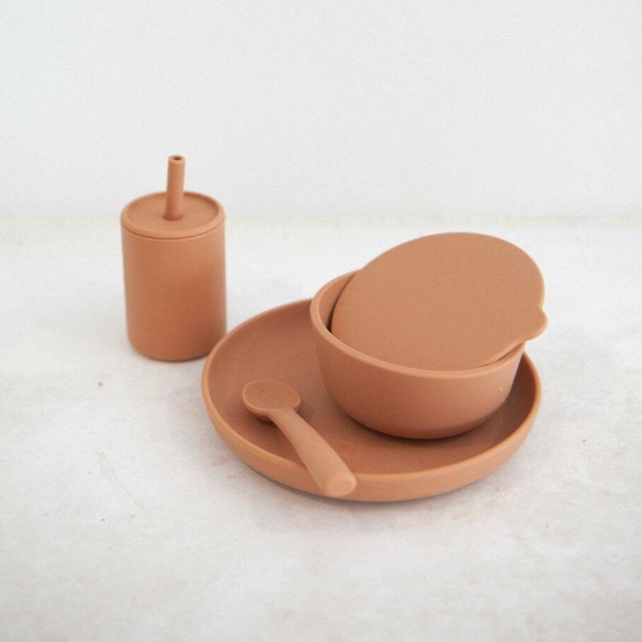 Silicone 6-Piece Dinner Set - Cinnamon