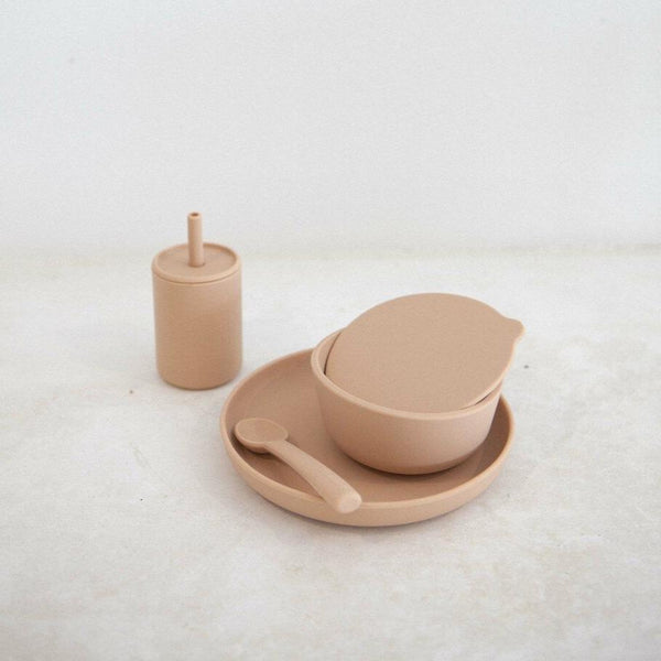 Silicone 6-Piece Dinner Set - Latte
