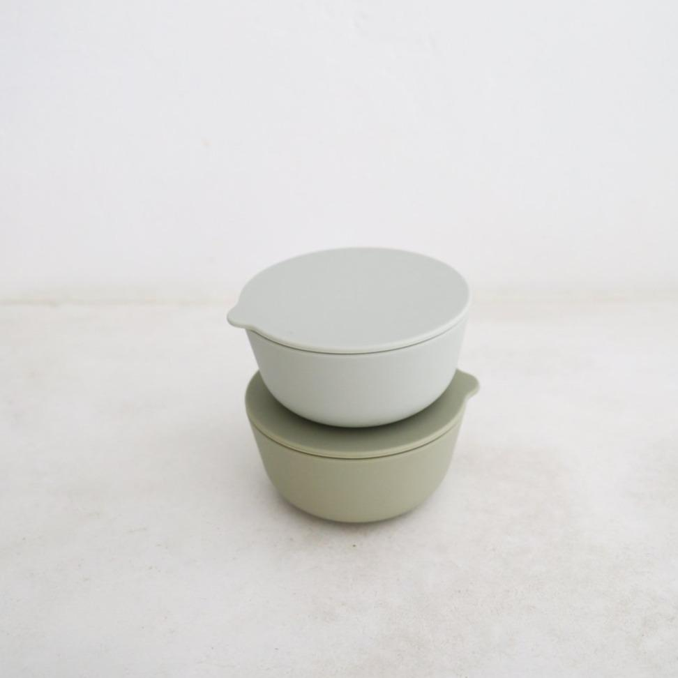 Silicone Bowls Set of 2 - Cloud + Oyster