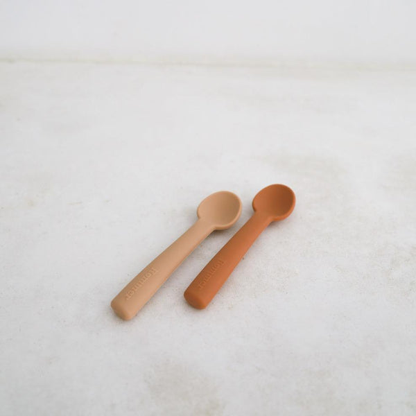 Silicone Spoons Set of 2 - Cinnamon + Latte