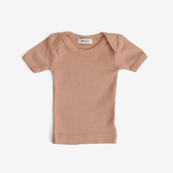 Bird Short-sleeve Lap Tee - Peach