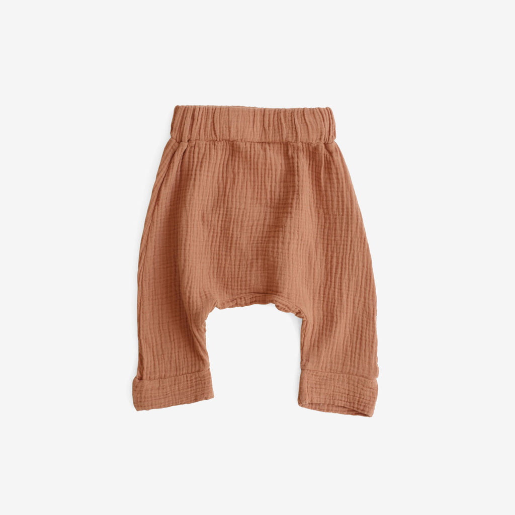 Jones Gauze Harem Pant - Rust